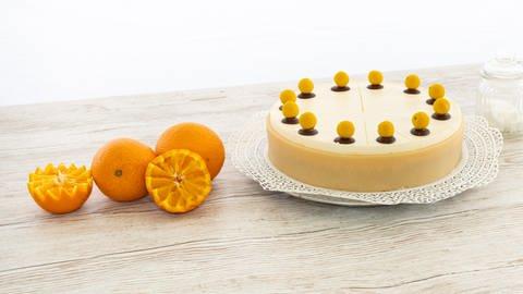 Die optimale Kombination: Orangen-Marzipan-Torte